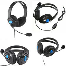 3.5mm Wired Gaming Headphones Microphone Headset For PC Playstation 4 PS4 Black