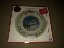Lenox 2018 Deer Doe Holiday Plate Annual Cabin Forest Collectors Christmas Nib