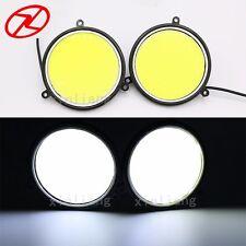 2PCS Super Bright LED Day light Daytime running light 12V 90 mm Car Auto DRL