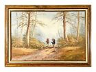 Barry Phelps Equestrian Fox Hunt Woods Scene Oil On Canvas Painting Signed