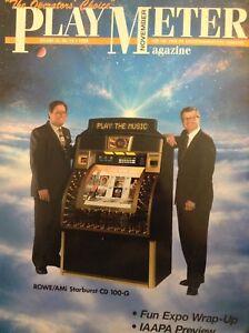Play Meter Magazine Rowe/AMi Starburst CD 100-G November 1998 012518nonrh