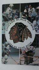 Vintage NHL 1984-85 CHICAGO BLACKHAWKS Media Guide Yearbook RARE Hockey Savard
