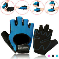 Weight Lifting Gym Gloves Wrist Wrap Work Fitness Training Sports Bicycle Gloves