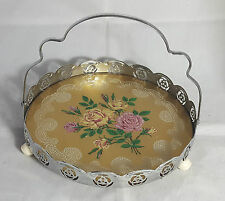 Beautiful Decorative Silver Plated Basket with Glass Base (Height - 16 cm)