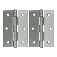 "Hausen 3"" Door Butt Hinges Chrome Plated Steel Door/Cabinet Hardware (pack of 2)"
