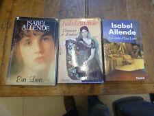 Lot de 3 livres  d'isabel allende : les contes d'eva Luna -  eva luna