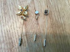 lot of Three vintage costume jewelry stick pins