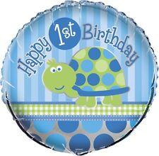 1. Geburtstag Schildkröte blau bitte Wählen Folienballon 45 Cm