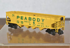 Two (2) Minitrix N Scale Railroad Train Peabody Hopper Cars 3279