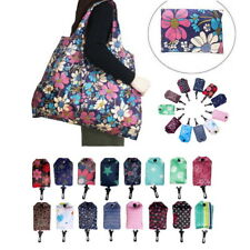 Womens Foldable Reusable Flower Storage Bag Grocery Tote Waterproof Shopping Bag