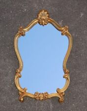 Alter Wandspiegel Barock Stil Prunkrahmen Holz vergoldet - Spiegel