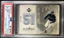 2001 Ultimate Collection Ultimate Ichiro Suzuki Game Used Jersey RC Card PSA 8