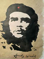 Andy Warhol Watercolour Painting Original Che Signed
