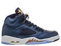 "Men Brand New Air Jordan 5 Retro ""Bronze"" Athletic Fashion Sneakers [136027 416]"