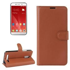 Cover Wallet Premium Brown For ZTE Blade A602 Case Cover Pouch Protection NEW