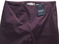 New Womens Marks & Spencer Purple Crop Trousers Size 14 12 10 8 6 Medium Short