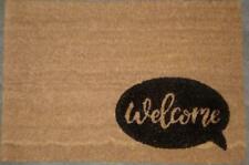 Natural Doormat Front Door Welcome Mat Coconut Fibre Rubber Home Garden 60x40cm
