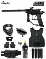Maddog Azodin Kaos 3 Protective CO2 Paintball Gun Marker Starter Package Black