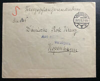1915 Magdeburg Germany Cover To Prisoner Of War POW Red Cross Copenhagen Denmark