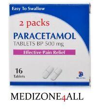 2 X 16 Paracetamol 500mg Caplets - Joint Back Muscle Migraine Pain Relief