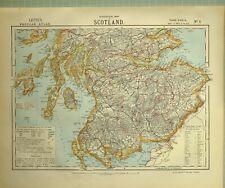 1881 LETTS MAP SCOTLAND KIRKCUDBRIGHT WIGTON STIRLING PERTH EDINBURGH BERWICK