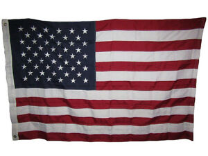 4x6 Embroidered Sewn USA American 600D Nylon Flag 4'x6' Grommets Heavy Duty