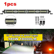 "Single Row 13""inch 180W Straight LED Light Bar Spot+Flood Combo Off Road Boat"