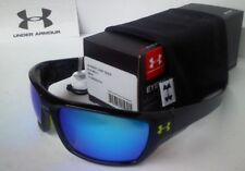 Under Armour Assert Sunglasses - Shiny Black/Blue Multi Lens - UA 8600042-5161