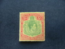 Nyasaland KGVI 1938 5/- pale green & red on yellow SG141 UM/MNH