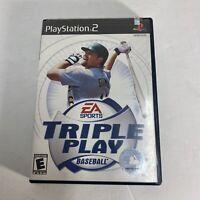 Triple Play Baseball Playstation 2 PS2 Video Game Complete Free Shipping CIB