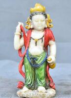 """Sculpture Guan Yin sculptée pierre naturelle de 6 """" Chine, en pierre naturelle"""