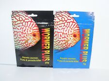 WORMER PLUS 5g & 20g pack aquarium fish wormer, fluke & parasite killer.