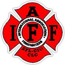2 Inch 3M-Reflective Plain Red IAFF International Firefighters Helmet Sticker