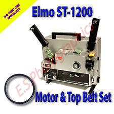 ELMO st-1200 SUPER 8mm alle cine proiettore Drive Belt Set di 2