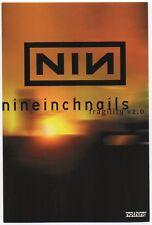 Wicked Nice Mint Original 1999 Nine Inch Nails Fragility Tour Concert Handbill