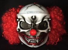 Scary Clown Custom Motorcycle Helmet Killer CLOWN Visor with Hair DOT