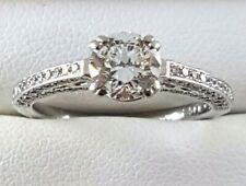 Platinum Diamond Engagement RING_TDW = 1.55ct_GIA Certificate and Valuation
