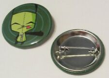 Invader Zim Gir as Dog Hitch Hiking Button Pin Set Officially Licensed