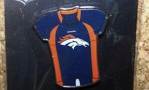 Denver Broncos blue jersey lapel hat pin NFL