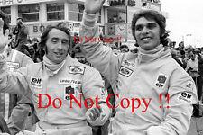 Francois Cevert & Jackie Stewart Tyrell F1 Portrait 1973 Photograph 2