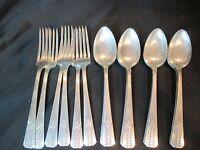 Oneida Vernon Silverplate Romford 1939 12 Soup Spoons 6 Dinner Forks