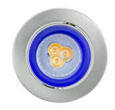 Einbaustrahler LED 230V GU10 Set warmweiss Deckeneinbauspot Einbaustrahler Glas