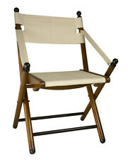 """Campaign Folding Chair 36"""" Wooden Portable British Camp Outdoor Furniture"""