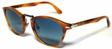 PERSOL 3108S 3108/S 49 960/S3 TYPEWRITER EDITION LIGHT HAVANA S3 BLUE POLARIZED