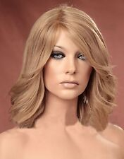 Ladies Layered Style with Side Bangs Wig Ash Blonde Fashion Wig