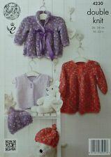 Knitting pattern BABY GIACCA, Abito affumicato, GILET E CAPPELLO COCCOLE DK 4230