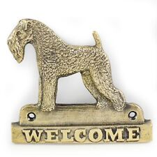 Kerry Blue Terrier - brass tablet with image of a dog, Art Dog Usa