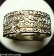 Stunning 1.80ctw CZ Cubic Zirconia Bridal Wedding Anniversary Band Ring Size 9
