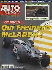 AUTO HEBDO n°1130 du 1er Avril 1998 GP BRESIL MEGAPHONE RENAULT