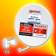 Opticum digitale 80cm Sat-Antenne+Opticum Twin-LNB Satellitenantenne 2Teilnehmer